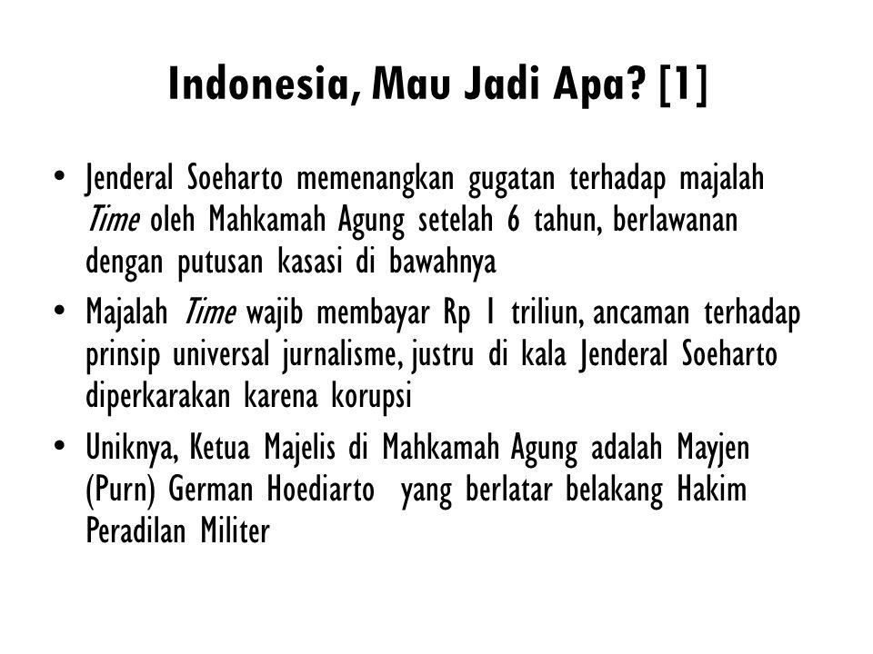 Indonesia, Mau Jadi Apa [1]